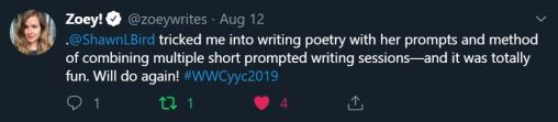 2019WWCPromptPoetrytweet