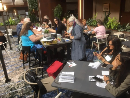 WWC2019- Prompt Poetry in the cafe atrium